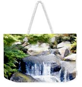 Garden Waterfall With Koi Pond Weekender Tote Bag