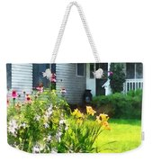 Garden With Coneflowers And Lilies Weekender Tote Bag