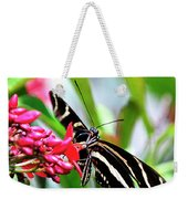 Garden Zebra Longwing Weekender Tote Bag