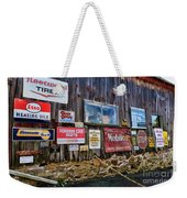 Gas Station Signs Weekender Tote Bag