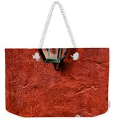 Gaslight On A Red Wall Weekender Tote Bag