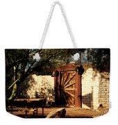 Gate To Cowboy Heaven In Old Tuscon Az Weekender Tote Bag