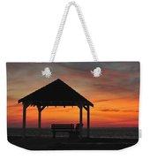 Gazebo At Sunset Seaside Park, Nj Weekender Tote Bag