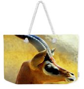 Gazelle Weekender Tote Bag by Karen Wiles