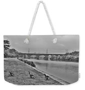 Geese Along The Schuylkill River Weekender Tote Bag