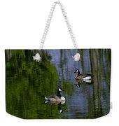 Geese On The Pond Weekender Tote Bag