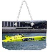 Geico Race Boat Weekender Tote Bag
