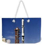 Gemini 12 Astronauts Lift Off Aboard Weekender Tote Bag