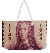 General James Oglethorpe Postage Stamp Weekender Tote Bag