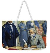 General Ulysses Grant Accepting The Surrender Of General Lee At Appomattox  Weekender Tote Bag by Severino Baraldi