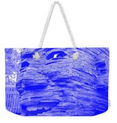 Gentle Giant In Negative Blue Weekender Tote Bag