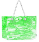 Gentle Giant In Negative Light Green Weekender Tote Bag