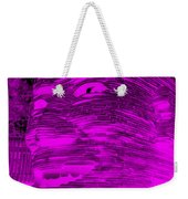 Gentle Giant In Negative Purple Weekender Tote Bag