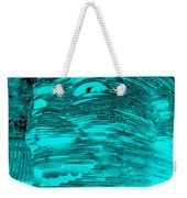 Gentle Giant In Negative Turquois Weekender Tote Bag