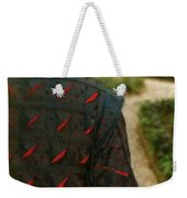 Gentleman In 16th Century Clothing On Garden Path Weekender Tote Bag