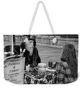 Genuine Palmistry And Tarot Black And White Weekender Tote Bag