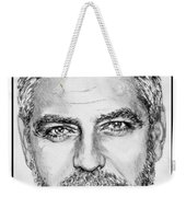 George Clooney In 2009 Weekender Tote Bag