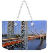 George Washington Bridge At Twilight Weekender Tote Bag