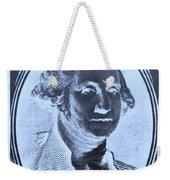 George Washington In Negative Cyan Weekender Tote Bag