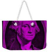 George Washington In Purple Weekender Tote Bag