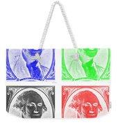 George Washington In Quad Negative Weekender Tote Bag