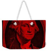 George Washington In Red Weekender Tote Bag