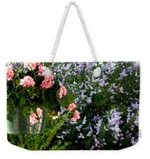 Geranium And Lilac Painting Weekender Tote Bag