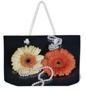 Gerberas With Pearls Weekender Tote Bag