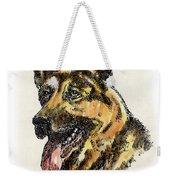 German-shepherd-portrait Weekender Tote Bag