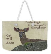 Get Well Card - Whitetail Deer In Velvet Weekender Tote Bag
