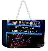 Ghirardelli Chocolate Signs At Night Weekender Tote Bag