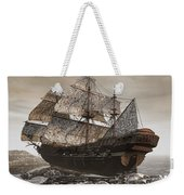 Ghost Ship Of The Cape Weekender Tote Bag by Lourry Legarde