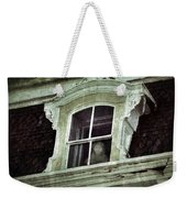Ghostly Girl In Upstairs Window Weekender Tote Bag by Jill Battaglia