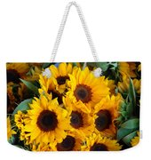 Giant Sunflowers For Sale In The Swiss City Of Lucerne Weekender Tote Bag