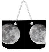 Gibbous Moon Weekender Tote Bag