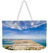 Gibraltar Airport Runway And La Linea Town Weekender Tote Bag