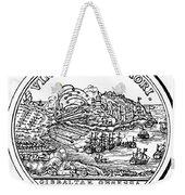 Gibraltar: Medal, 1727 Weekender Tote Bag