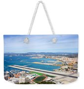 Gibraltar Runway And La Linea Cityscape Weekender Tote Bag
