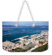 Gibraltar Town And Bay Weekender Tote Bag