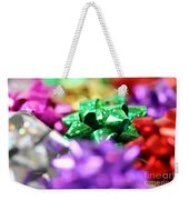 Gift Bows Close Up Weekender Tote Bag