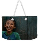 Giggles Against The Wall Weekender Tote Bag