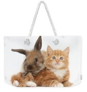 Ginger Kitten Young Lionhead-lop Rabbit Weekender Tote Bag