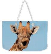 Giraffe Calling Weekender Tote Bag