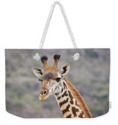Giraffe Close-up Weekender Tote Bag