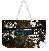 Girard Avenue In Philadelphia Weekender Tote Bag