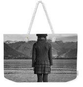 Girl At A Lake Weekender Tote Bag