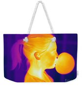 Girl Blowing A Bubble Weekender Tote Bag
