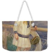 Girl In A Sailor Suit Weekender Tote Bag
