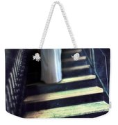 Girl In Nightgown On Steps Weekender Tote Bag