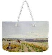 Girl In The Fields   Weekender Tote Bag